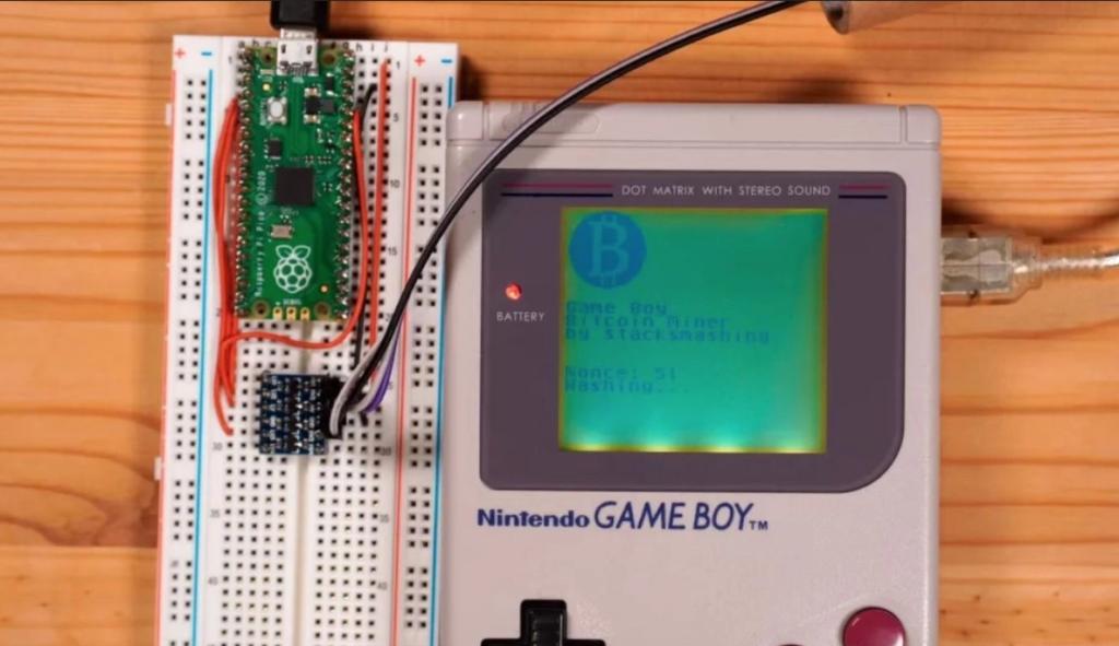 Miner des bitcoin avec un Game Boy